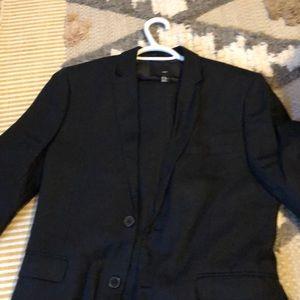 Men's Linen Suit Black 36R jacket 32 Pants